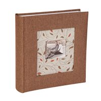 Cottage Flowers Memo Style Photo Album Brown 200 6x4