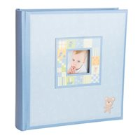 Patchwork Memo Style Photo Album Blue 200 6x4