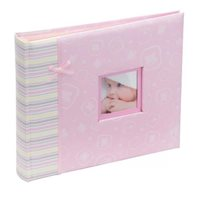 Happy Baby Girl Scrapbook Style Photo Album Pink 48 6x4
