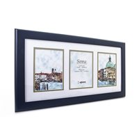 Sienna Blue Hand Crafted Wood Picture Frame with double mount  for 3 x 4x6