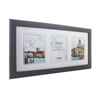 Sienna Grey Hand Crafted Wood Picture Frame with double mount  for 3 x 4x6