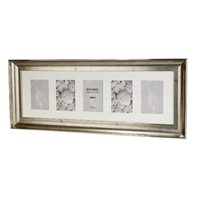 Bergamo Antique Silver Collage Picture Frame holds five 4x6
