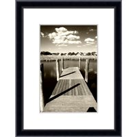 4x6'' / 10x15cm Frisco Black Hand Crafted Wood Picture Frame.  Matt Finish.  Flat  Profile: 10mm wide x16mm deep.