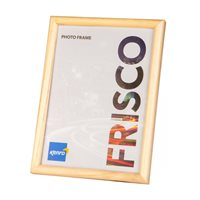 4x6'' / 10x15cm    Frisco Natural Hand Crafted Wood Picture Frame. Hand Crafted Wood Grain Finish.  Flat  Profile: 10mm wide x16mm deep.