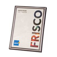 A4 / 21x29.7cm   Frisco Pewter Polymer Picture Frame  with Gloss Finish. Rounded Profile: 12mm wide x 16mm deep. - FR2130GY Online Bulk Order Discounts Starting at 6 Units