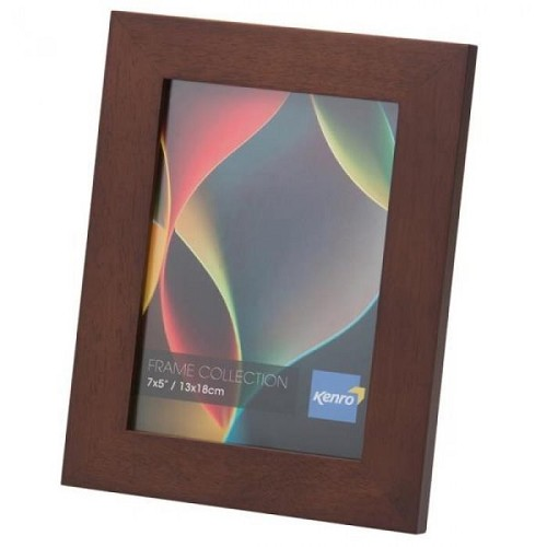 "10x12"" / 25x30cm  Rio Dark Oak Crafted Wood Picture Frame in Solid Rubber Wood. Wood Stain Finish.  Flat Profile: 30mm Wide x 20mm deep. Online Bulk Order Discounts Starting at 6 units"