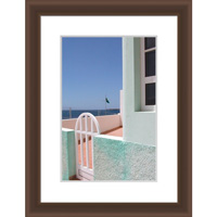 4x6'' / 10x15cm    Frisco Dark Oak Picture Frame.  Matt Finish.  Flat  Profile: 10mm wide x16mm deep.