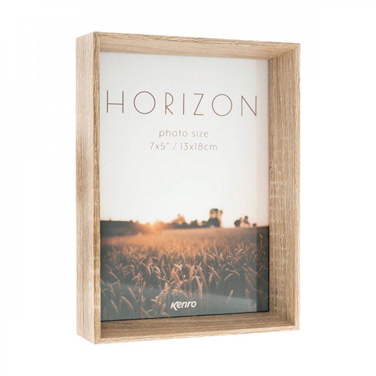 Horizon Light Oak Hand Crafted Wood Picture Frame. Wood Stain Finish. 30mm Wide x 45mm deep.  2 vsizes available