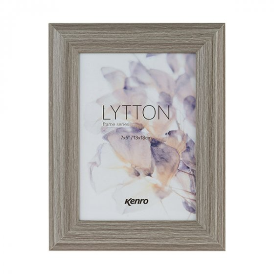 Kenro''s Lytton Series frames have a rounded cushioned profile 24mm wide by 15mm deep, and a stylish taupe-coloured wood effect finish. 4 sizes available