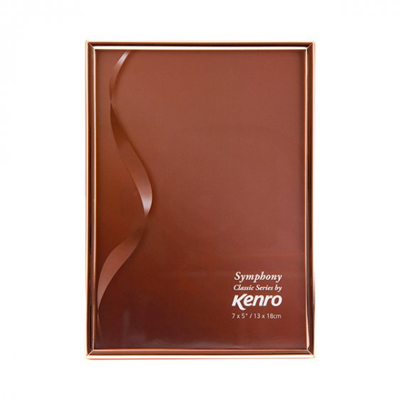 Kenro's Symphony Classic Copper finish Series Frame. Choice of FOUR SIZES (4x6'', 5x7'',6x8'', 8x10''). Presented in Luxurious Gift Box .