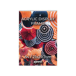 Kenro's Acrylic Display Frames are lightweight and durable with suitable for displaying photographs, posters, certificates or information.  Nine Sizes Available.