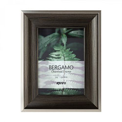 Kenro's Bergamo Charcoal hand Crafted Wood Frame. Distresed Finish. Flat Profile: 45mm Wide x 22mm Deep.  Four sizes available
