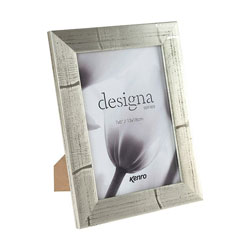 Kenro's Designa Series. These champagne-coloured frames feature distressed wood effect detailing. 4 sizes available