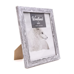 Kenro's Harmony Woodland Photo Frame. Finish: Silver Grey Wash for aged effect.  Available in 4x6
