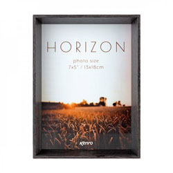 Horizon Dark Oak Hand Crafted Wood Picture Frame. Wood Stain Finish. 30mm Wide x 45mm deep. Two sizes available