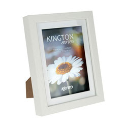 Kenro's Kington Shadow Box Frame with NON REMOVABLE mount. White Matt Finish. Flat Profile.  18mm x 30mm.  4 sizes available