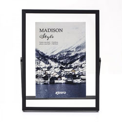 Kenro's Madison Style series Black frame feature a generous glass border to create the illusion of a photo floating in its frame.  Two sizes available.