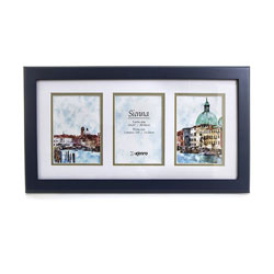Kenro's Sienna Blue Hand Crafted Wood Multi Picture Frame for 3 x 5x7