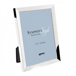Kenro's Symphony Style Frame Silver Plated, Tarnish Resistant with Luxury Velour Backing. Presented in Luxury Gift Box. .