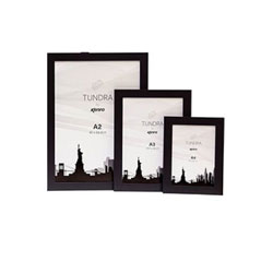 Tundra Series Black frames are available in poster sizes (A2,A3,A4) They are strong and sturdy, constructed from MDF with a 37mm wide by 18mm deep flat profile.