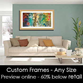 Frame Your Artwork - Frame Anything from a Photo to a Deep Canvas.  Visualize Your Art Work Mounted & Framed.
