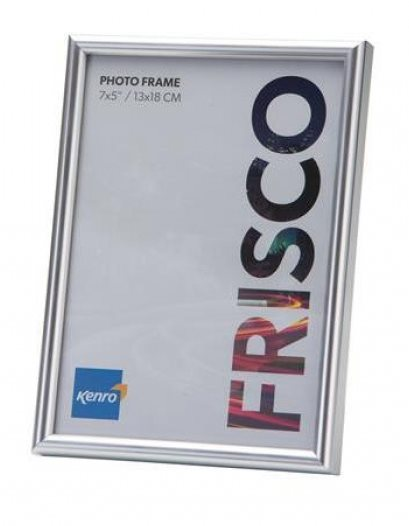12x18'' / 30x46cm Frisco Silver Resin Picture Frame with Gloss Finish. Rounded Profile: 12mm wide x 20mm deep. Online Bulk Order Discounts Starting at 6 Units