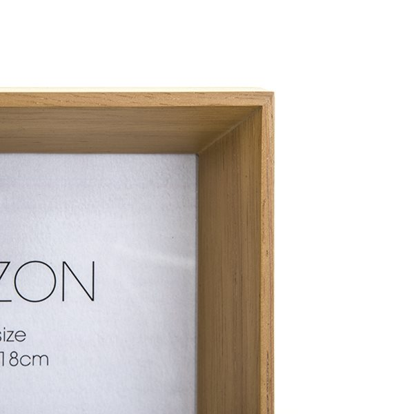 02f6aa9133e HZ1318N  Horizon Natural Wood Photo Frame