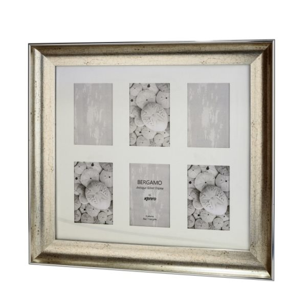 BERG1015S-6: Bergamo Antique Silver Photo Frame|Kenro Ireland