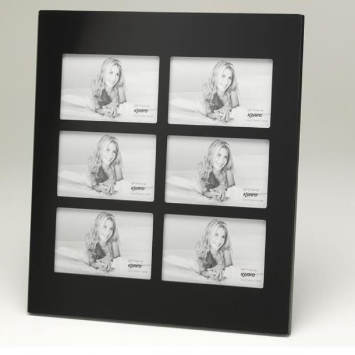 Black Glass Frame For Six 6x4