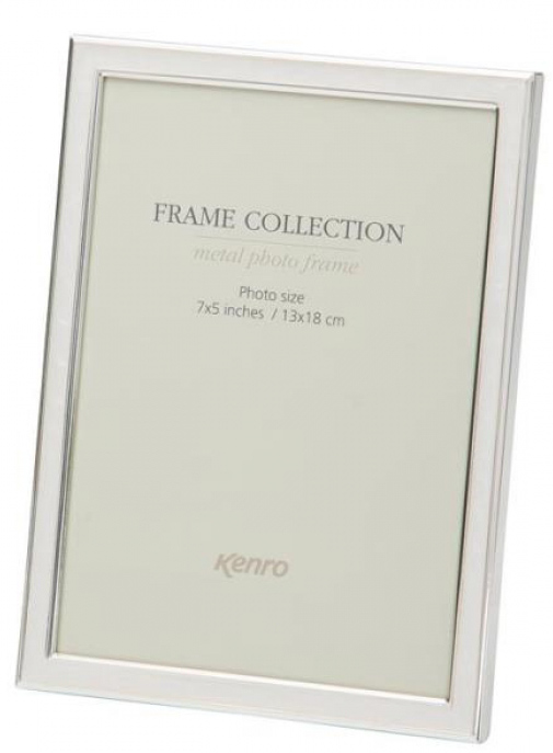 Mellow Classic Frame.  Silver plated tarnish resistant border and ivory coloured enamel inlay, 10mm wide profiles. Comes in Gift Box.  .  Bulk Order Discounts Available