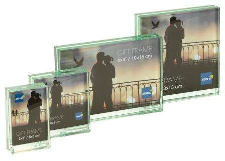 Solitaire Series Glass Block Frame for Landscape photo . Comes in Gift Box. .  Bulk Order Discounts Available