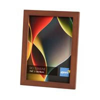 A4/21x29.7cm  Rio Slimline Dark Oak Crafted Wood Picture Frame in Solid Rubber Wood. Wood Stain Finish.  Flat Profile: 15mm Wide x 15mm deep. Online Bulk Order Discounts Starting at 6 units