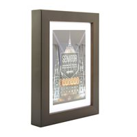 A3 Senator Brown Hand Crafted Picture Frame with A4 removable mount. Matt Finish. Flat Profile: 20mm Wide x 30mm Deep.
