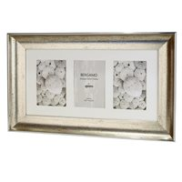 Bergamo Antique Silver Collage Picture Frame holds three 4x6