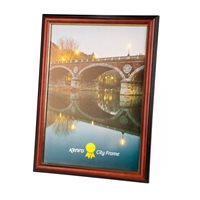 A4 / 21x29.7cm City Series Hand Crafted Brown Wood Picture Frame  with Gold Inset.  Spoon Profile. 25mm wide x 20mm Deep. - CTY2130
