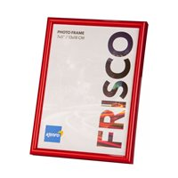 A4 / 21x29.7cm   Frisco Red Polymer Picture Frame  with Gloss Finish. Rounded Profile: 12mm wide x 16mm deep. - FR2130RD Online Bulk Order Discounts Starting at 6 Units