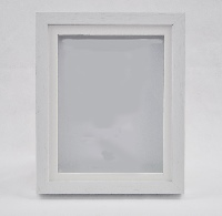 White Wood Shadow Box Frame with Mount.  Available  at Trade Prices in Pack Sizes from 8 to 20. From 4.57 + Vat Per Frame.  27 Sizes Available from 4x6'' to A2.  Moulding: 20mm Wide x 32mm Deep with 19mm Gap Between Back of Glass and Back of Frame.