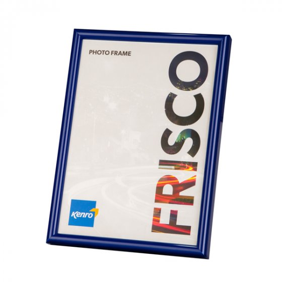 Kenro's Frisco Blue Polymer Picture Frame with Gloss Finish. Rounded Profile: 10mm wide x 16mm deep. Five sizes (4x6