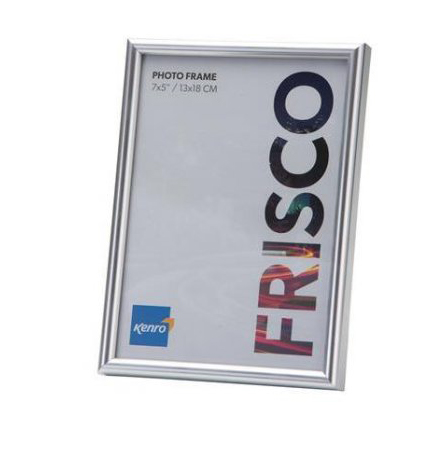 Kenro's Frisco Silver Resin Picture Frame with Gloss Finish. Rounded Profile: 10mm wide x 16mm deep. Available in 20 sizes from 4x6