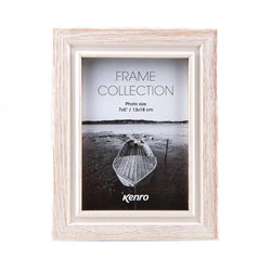Kenro's Emilia White Distressed Hand Crafted Wood Picture Frame.  Distressed Wood Shaby Chic Finish. 34mm wide x 20mm deep. Available in 8 sizes