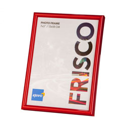 Kenro's Frisco Red Polymer Picture Frame with Gloss Finish. Rounded Profile: 10mm wide x 16mm deep. Five sizes (4x6