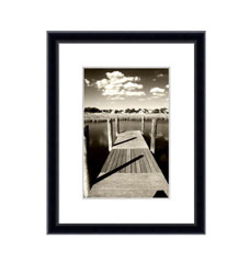 Kenro's Frisco Black Hand Crafted Wood Picture Frame. Matt Finish. Flat Profile: 10mm wide x16mm deep. Five sizes (4x6
