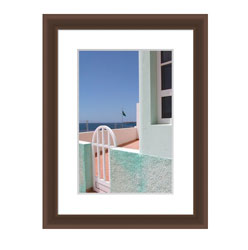 Kenro's Frisco Dark Oak Picture Frame. Matt Finish. Flat Profile: 10mm wide x16mm deep. Five sizes (4x6