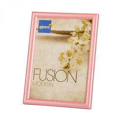 Kenro's Fusion Modern Pearlised Pink Picture Frame . Profile 12mm wide x 12mm deep. Availabl;e in 5x7