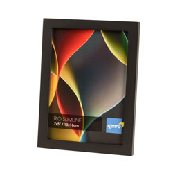 Kenro's Rio Slimline Black Hand Crafted Wood Picture Frame in Solid Rubber Wood. Matt Finish. Flat Profile: 15mm Wide x 15mm deep. Available in 7 sizes