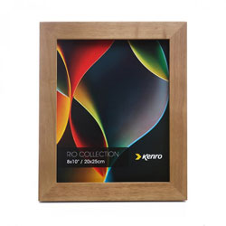 Kenro's Rio Light Oak Crafted Wood Picture Frame in Solid Rubber Wood. Wood Stain Finish. Flat Profile: 30mm Wide x 20mm deep. Available in 15 sizes