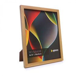 Kenro's Rio Slimline Light Oak Crafted Wood Picture Frame in Solid Rubber Wood. Wood Stain Finish. Flat Profile: 15mm Wide x 15mm deep.Available in 7 sizes