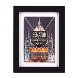 Kenro's Senator Professional Black Handcrafted Wood Picture Frame with Removable Mount. Matt Finish. Flat  Profile: 20mm wide x 30mm deep. Available in 15 sizes