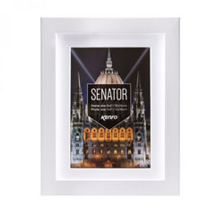 Kenro's Senator Professional White Hand Crafted Wood Picture Frame with Removable Mount. Matt Finish. Flat  Profile: 20mm wide x 30mm deep. Available in 15 sizes