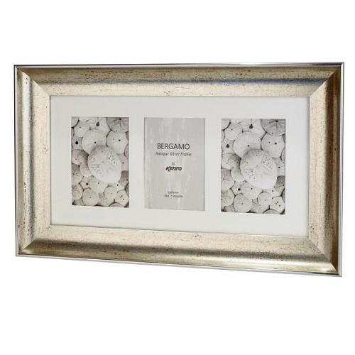 BERG1015S-3: Bergamo Antique Silver Photo Frame|Kenro Ireland
